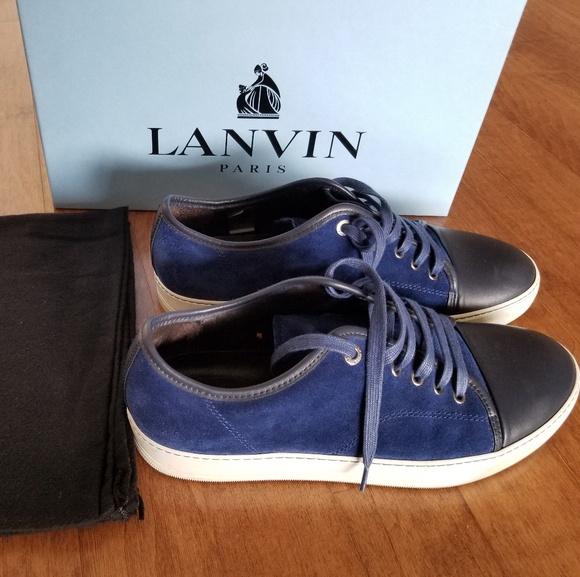 Lanvin Shoes   Lanvin Blue Capote Low